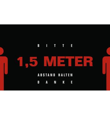 """Schmutzfangmatte """"Bitte 1,5 Meter Abstand halten. Danke"""" Motiv 4 90x150cm"""