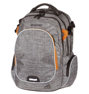 WALKER Schulranzen Campus Wizzard grey melange 42114/175