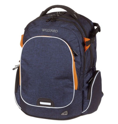 WALKER Schulranzen Campus Wizzard dark blue melange 42114/178
