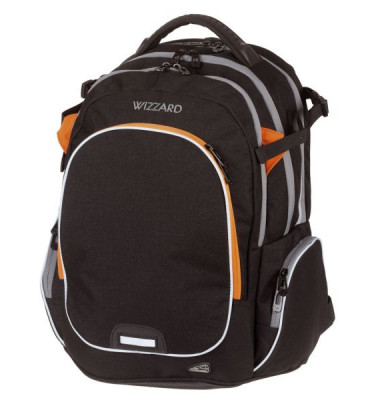 WALKER Schulranzen Campus Wizzard black melange 42114/180
