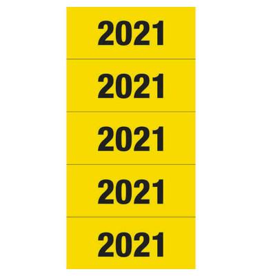 Jahreszahlen 2021 gelb 60x26mm selbstklebend 100 Stück
