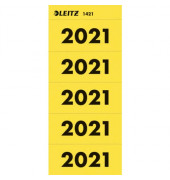 Jahreszahlen 2021 gelb 60x25,5mm selbstklebend 100 Stück