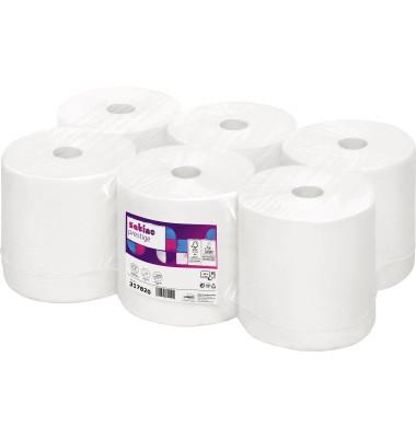 Rollenhandtücher Prestige 317821 20cmx150m 2lagig weiß 6 St./Pack.