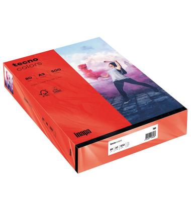 colors Kopierpapier intensivrot A3 80g 500 Blatt