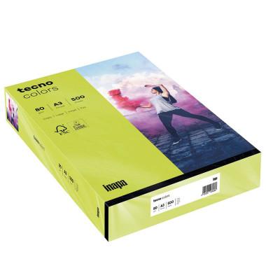 colors Kopierpapier leuchtend grün A3 80g 500 Blatt
