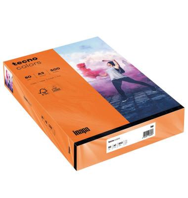 colors Kopierpapier intensivorange A3 80g 500 Blatt