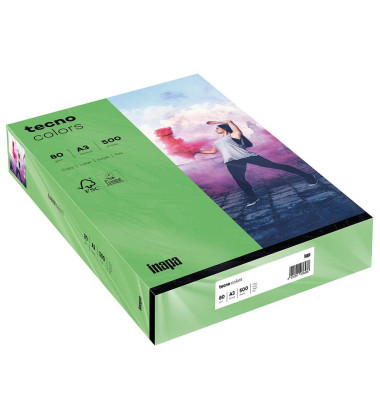colors Kopierpapier intensivgrün A3 80g 500 Blatt