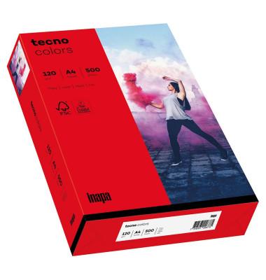 colors Kopierpapier intensivrot A4 120g 250 Blatt