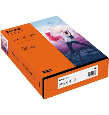 colors Kopierpapier intensivorange A4 120g 250 Blatt