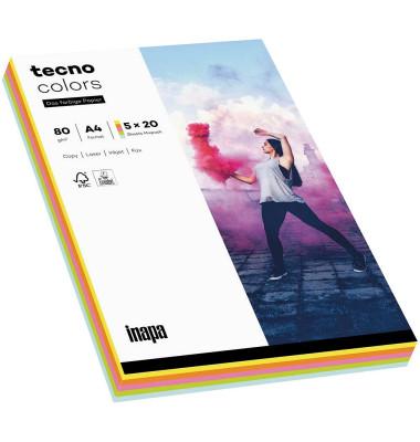colors Kopierpapier Mixpack pastell farbsortiert A4 80g 100 Blatt