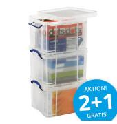 Aufbewahrungsbox-Set 35CCB transparent 3x 35 Liter 480 x 390 x 310mm