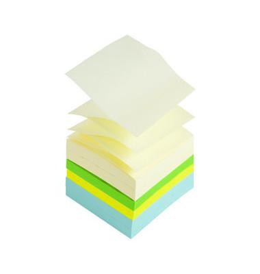 Haftnotiz Z-Notes, 76 x 76 mm, pastellgelb / neon sortiert, 100 Blatt