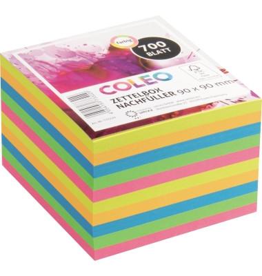 Notizzettel 733229 Nachfüll 90x90mm 700Blatt farbig