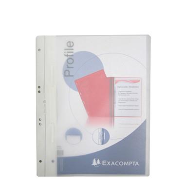 Schnellhefter ABO Dokument A4 weiß mit Abheftmechanik transparenter Vorderdeckel