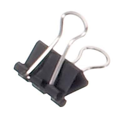Foldbackklammern mauly Breite 16mm schwarz 12 Stück
