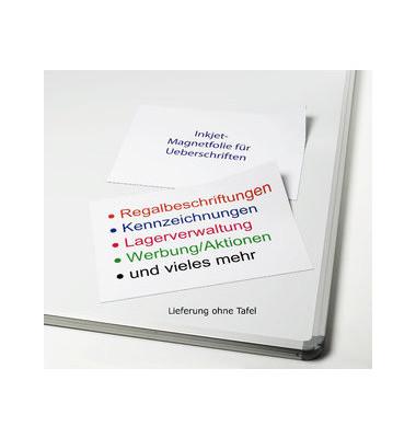 Magnetfolie für Inkjet Drucker 28my weiß A4 5 Stück / Pack 8690