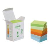Recycling Notes Pastell Rainbow (farbsortiert) 3,8 x 5,1 cm 1 Pack   6 Blöcke