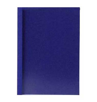 Thermobindemappen Lederstruktur 2,0mm Rückenbreite blau 15-20 Blatt