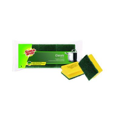 Topfreinigungsschwamm extra stark mit Griffleiste gelb/grün 3 Stück