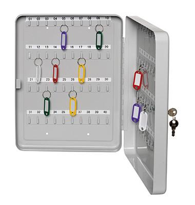 Schlüsselkasten 891 30 Haken grau Zylinderschloss