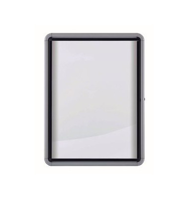 Schaukasten 19025 8 x A4 Metallrückwand weiß, grau magnetisch
