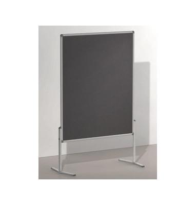 Moderationstafel Pro, 120x150cm, Filz + Filz (beidseitig), pinnbar, grau + grau