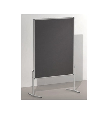 Moderationstafel PRO beidseitig Filz grau 120x150 cm