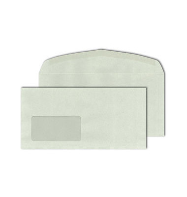 Kuvertierhülle mit Fenster 114 x 229 mm C6/5 grau 1000 Stück