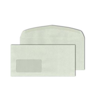 Kuvertierhüllen Kuvermatic C6/5 mit Fenster 114 x 229 mm grau 1000 Stück