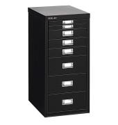 Schubladenschrank MultiDrawer™ 29er Serie L298833, Stahl, 8 Schubladen (Vollauszug), A4, 27,9 x 59 x 38 cm, schwarz