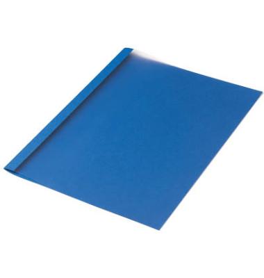 Thermobindemappen Leinenstruktur blau 4,0 mm 30-40 Blatt