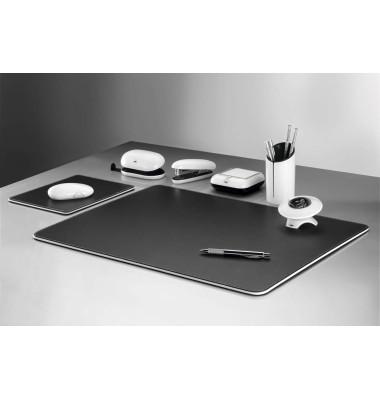 Schreibtischset eyestyle schwarz/weiß 7-teilig