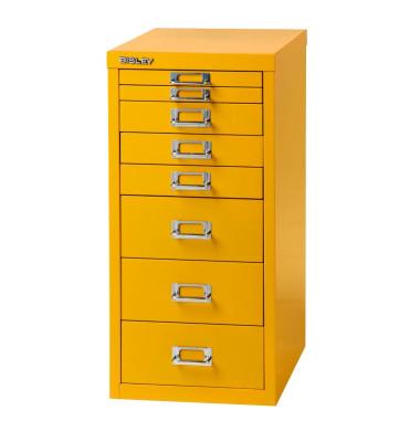 Schubladenschrank gelb mit 8 Schubladen