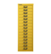 Schubladenschrank gelb mit 15 Schubladen