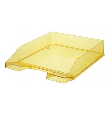 Briefablage 1024 A4 / C4 gelb-transparent stapelbar 2 Stück