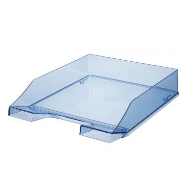 Briefablage 1024 A4 / C4 blau-transparent stapelbar 2 Stück