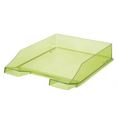 Briefablage 1024 A4 / C4 grün-transparent stapelbar 2 Stück
