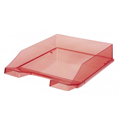 Briefablage 1024 A4 / C4 rot-transparent stapelbar 2 Stück