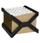 Hängemappenkorb Carry Plus 2611 schwarz bis 30 Mappen befüllt mit 25 Mappen stapelbar