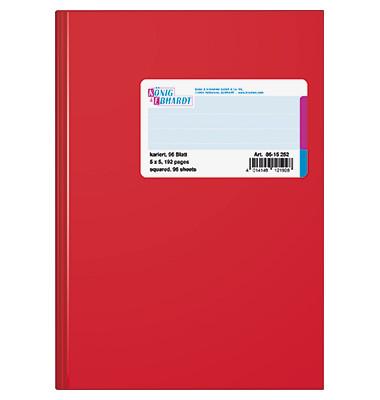 Geschäftsbuch kariert A5 96 Blatt Plastik