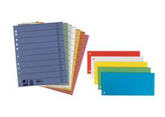 40 Trennstreifen Trennblätter Aktenfahnen 105 x 240 mm 190g//qm 4-farbig sortiert