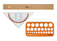 Bild der Kategorie Dreiecke / Lineale / Schablonen