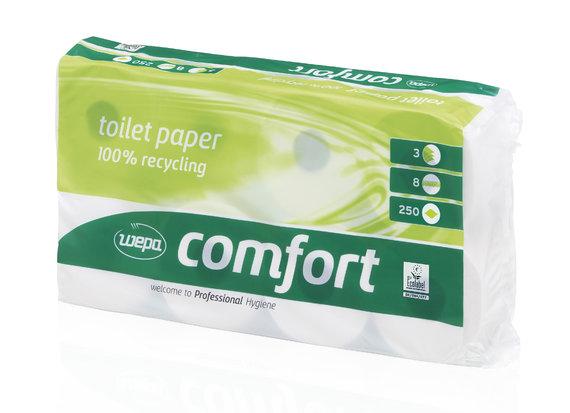 Wepa Toilettenpapier 037060 Comfort, 8 Rollen