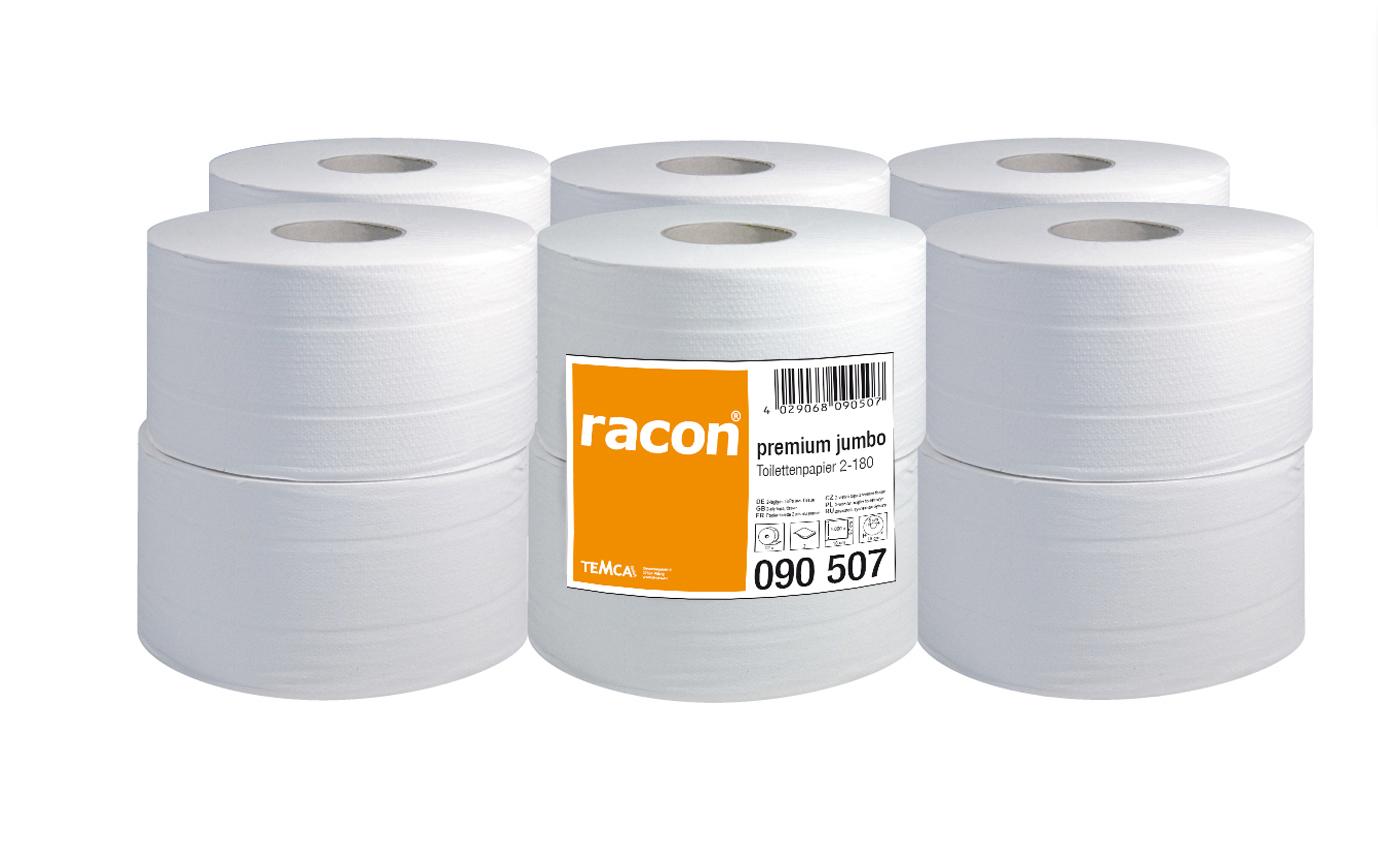 Temca Toilettenpapier Jumbo premium 090507 2-lagig 12 Rollen