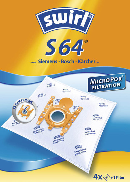 Swirl Staubsaugerbeutel S 64 MicroPor