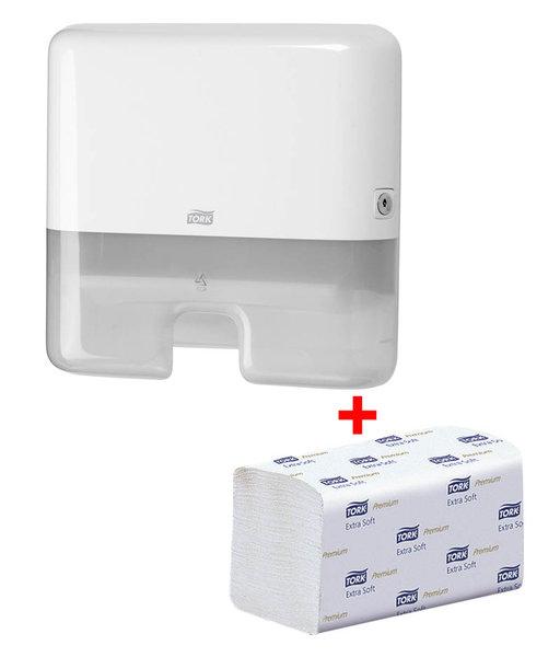 Tork Starter Pack Papierhandtuch-Spender 952100 + Papierhandtücher