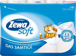 Zewa Toilettenpapier 29828 Das Samtige, 24 Rollen