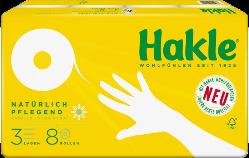 HAKLE Toilettenpapier 10106 Kamille PLUS 3-lagig 8 Rollen