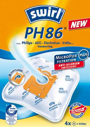 Swirl Staubsaugerbeutel PH 86 MicroPor Plus AirSpace