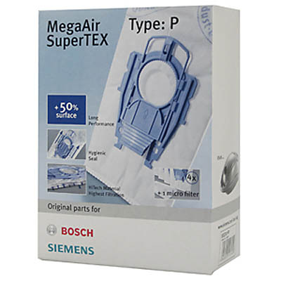 Siemens Staubsaugerbeutel VZ41AFP Typ P MegaAir SuperTEX